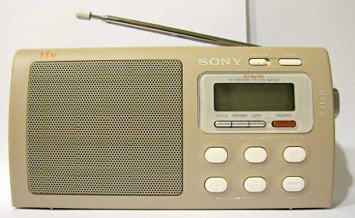 Sony Liv Portable 4-Band TV/Weather/FM/AM Clutch Radio ICF-M