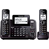 panasonic 2line phone - Panasonic KX-TG9542B Link2Cell Bluetooth Enabled 2-Line Phone with Answering Machine & 2 Cordless Handset (Certified Refurbished)