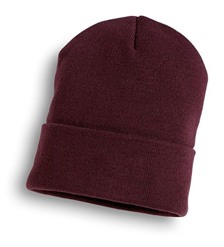 Bronx Plain Soccer Beanie Hat Maroon Pack Of 2 by Bronx