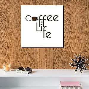 لوحة قهوة خشب ام دي اف مقاس 30x30 سنتيمتر من