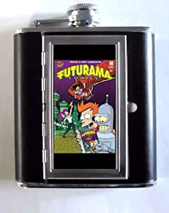 Futurama Comic Book #6 5oz Flask Cigarette Case ID Wallet