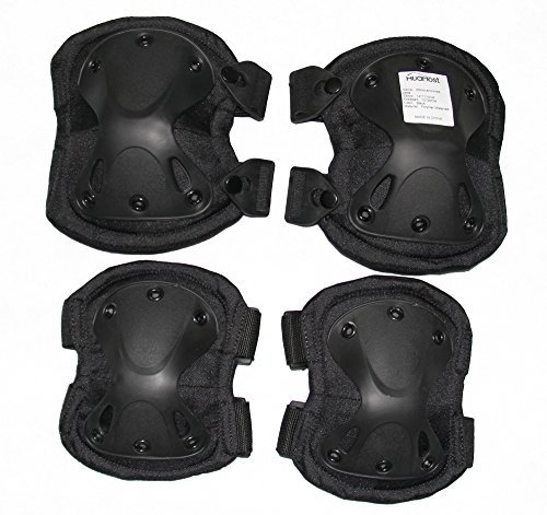 Huamost Cycling Roller Skating Knee Elbow Protective Pads — Adjustable Size, Suitable for Multi Sports ,Skateboard, Biking, Mini Bike Riding and Other Extreme Sports