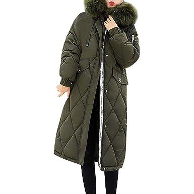 SANFASHION Manteau Longue Capuche Polaire Hiver Doudoune Femme Capuche  Fourrure Jacket Grande Taille Blousons Chaud Mode 4e803e492be9