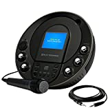 Electrohome EAKAR535 Portable Karaoke CD+G/MP3G Player Speaker System with 3.5'' Screen, 2 Microphone Connections, and Smartphone, Tablets, MP3 Input & Bonus 3.5mm Aux Stereo Cable