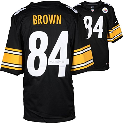 Antonio Brown Pittsburgh Steelers Autographed Nike Limited Black Jersey - Fanatics Authentic Certified ()