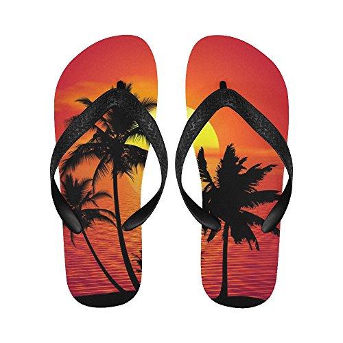 D-verhaal Tropische Palmboom En Strandtenten Met Strandwandelingen Voor Dames / Heren