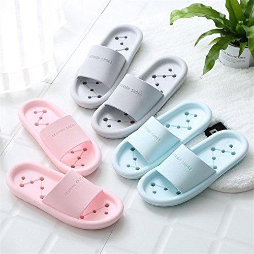 Estate per Migliore Pantofole spessa DDOQ Colore Sky Pantofole Coppia 39 ciabatta blue punta Pink Pantofole a 38 Dimensione Moda a bagno 75Idwdq