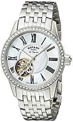 Rotary Women's lb90510/41 Analog Display Swiss Automatic Silver Watch