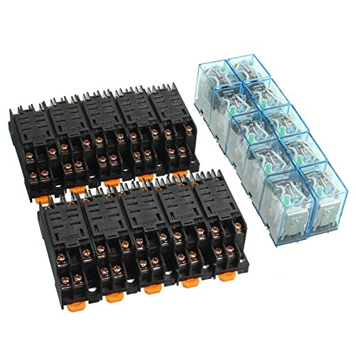 10Pcs 12V DC Coil Power Relay LY2NJ DPDT 8 Pin HH62P JQX-13F With - 1