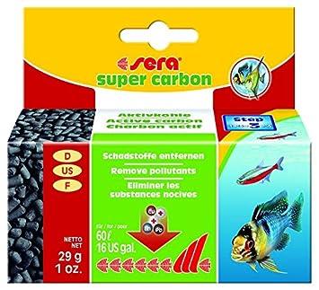 Sera 6854 Super Carbon Activo Filtro de carbón, fiable Gift y colorantes de la Acuarios Agua para Agua mar y Agua Dulce, 29 g: Amazon.es: Productos para ...