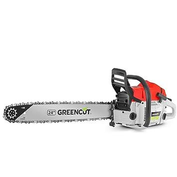 Greencut GS7200 24 - Motosierra de gasolina, 72cc - 4,2cv, espada de 24