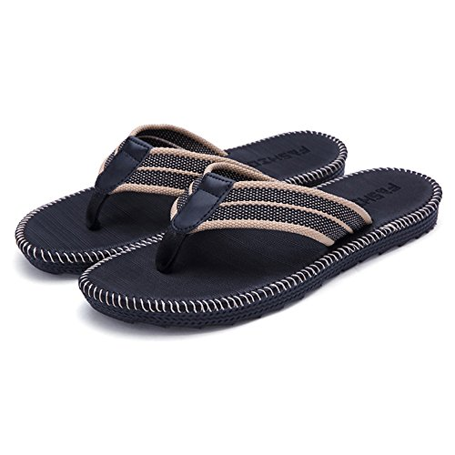 Flip-folps Non-slip Sole Pool Shoes Y-style Thong Sandals Anti-stink Beach Bathroom Slides, Men's (Ozone Pool Cleaners)