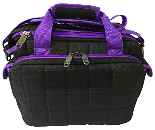 Review Explorer Tactical Padded Deluxe Shooting Ammo Range Rangemaster Gear Bag (Black/Purple)
