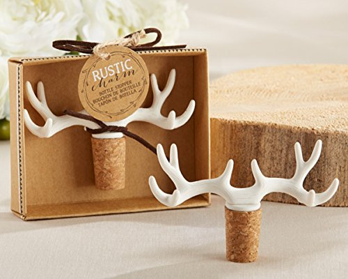 50 ''Rustic Charm'' Antler Bottle Stoppers