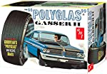 """AMT AMT1092 Pontiac Catalina Polyglass Gasser 2"""" Model Kit, White, 1:25 Scale by AMT"""