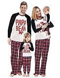 Baonmy Family Matching Christmas Sleepwear Pajamas Set (4T, Red Plaid 01)