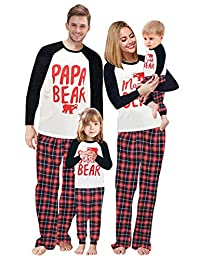 Baonmy Family Matching Christmas Sleepwear Pajamas Set