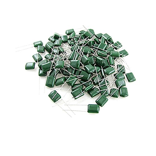 uxcell DC 100V 0.1uF Mylar Polyester Film Capacitor(Bag of 100) ()