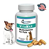 VitaMax Multivitamins for Dogs and Cats; Advanced Nutrition Pet Vitamin Supplement Improves Health of Coat and Skin, Increases Energy, Boosts Your Pet's Immunity and Aids Digestion – 60 Chews