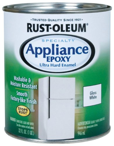 Rustoleum 241168 Quart White Appliance Epoxy Paint