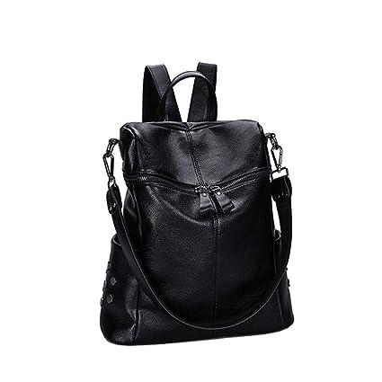 52f84743bb2e Amazon.com : LLMLCF Light Luxury Ziya Black Leather Shoulder Men and ...