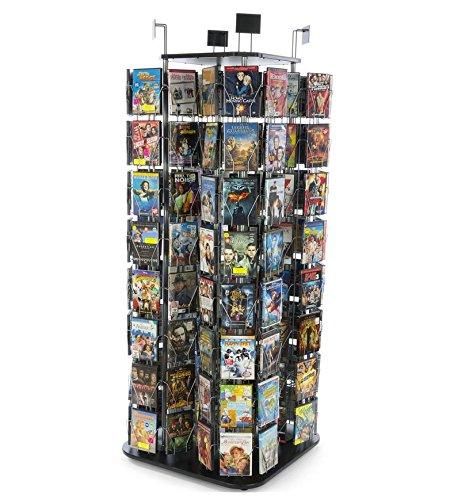 (FixtureDisplays DVD, CD, BlueRay, Literature, Greeting Card Postcard Rack Display High Capacity 192 Pockets 11877)