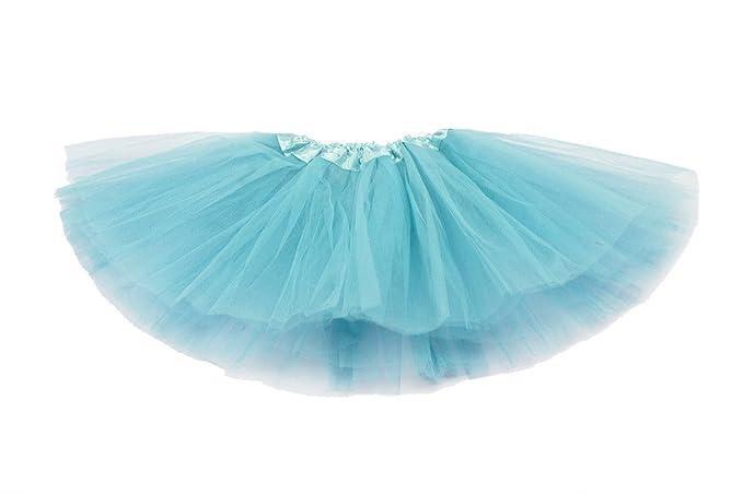 9cc8729daf Falda de tul quot Lily quot  para niñas - Tutú Enagua Falda de Ballet - Azul