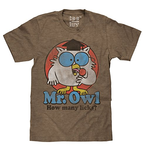 "Free Mr. Owl ""How Many Licks?"" Licensed T-Shirt-XX-Large"