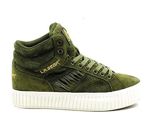 L.A. Gear Leder Sneaker Flame Hi Green Suede Größe 37/UK 4