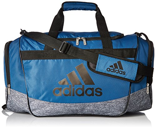 adidas Defender II Medium Duffel Bag, One Size, Core Blue/Black/Onix Jersey