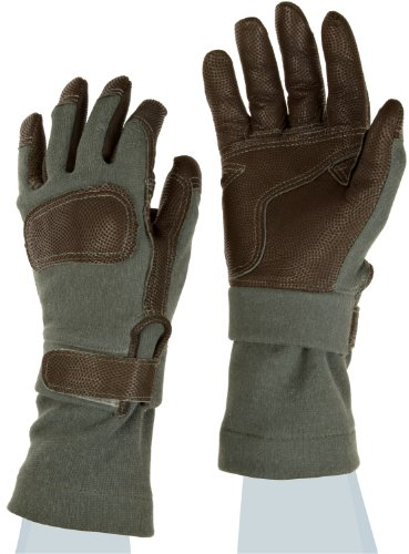 Ansell ActivArmr Mission Critical Gear 46-404 Leather Combat Glove, Fire/Cut Resistant, Kevlar Backing, Gusseted Cuff, (Pack of 1 Pair)