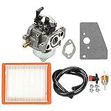 Panari 14 853 68-S Carburetor 14 083 15-S Air Filter Fuel Line for Kohler XT650 XT675 XT6.5 XT6.75 Husqvarna Lawn Boy Toro MTD Lawn Mower