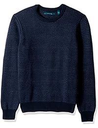 Men's Herringbone Crew Neck Sweater,