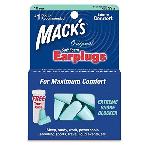 Macks safe sound soft foam earplugs -10 pair Pack of - Safe Foam Macks Soft Sound