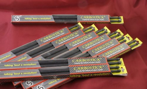Carbosticks, Carbon Fiber Drumsticks, 5ACTW, Medium Weight, White, Rock -