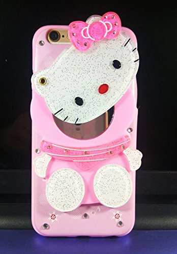 size 40 64a67 a6e64 Aarnik Makeup Mirror Kitty Back Cover for Apple iPhone 6 / iPhone 6s- {  Multi Colour}