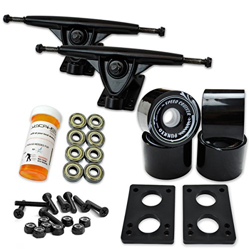 longboard trucks and wheels set - 1