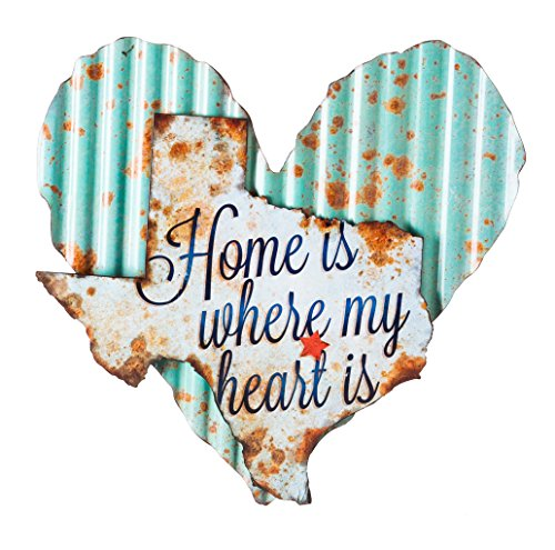 Cape Craftsmen Texas Home Sweet Home Corrugated Metal Wall Sign