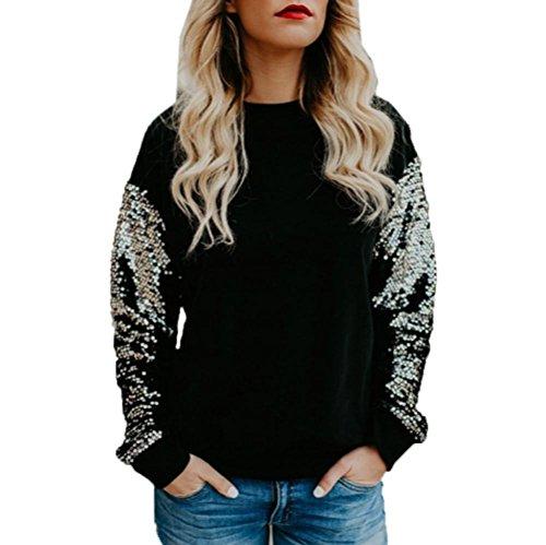 [S-XL] レディース Tシャツ スパンコール ステッチング 長袖 トップス おしゃれ ゆったり カジュアル 人気 高品質 快適 薄手 ホット製品 通勤 通学