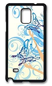 MOKSHOP Adorable Butterfly Keeper Hard Case Protective Shell Cell Phone Cover For Samsung Galaxy Note 4 - PCBKimberly Kurzendoerfer