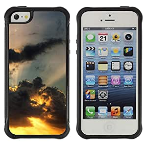 Pulsar Defender Series Tpu silicona Carcasa Funda Case para Apple iPhone 5 / iPhone 5S , Sunset Beautiful Nature 110