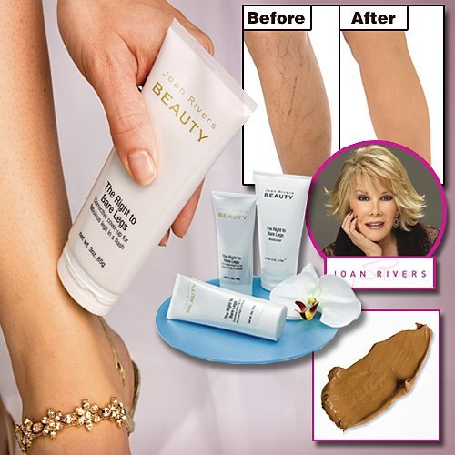 Joan Rivers Beauty-The Right to Bare Legs Corrective Cover Up- Tan (Best Leg Makeup To Cover Veins)