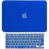MS factory MacBook Pro 13 ケース + 日本語 キーボード カバー ハードケース Mid 2010~Mid 2012/A1278 ディスクスロット搭載 対応 全14色カバー RMC series マックブック プロ 13.3 インチ マット加工 ブルー 青 RMC-SETP13MBL