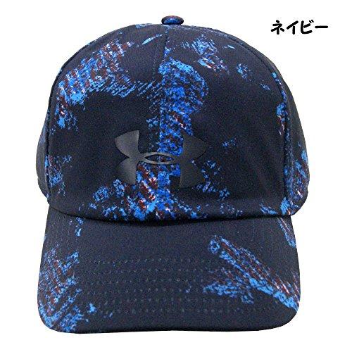 埋め込むスロベニア引数UNDER ARMOUR アンダーアーマー レディース 女性用帽子 ランニング キャップ 帽子 55~58cm - ネイビー