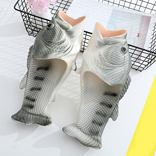 Fullfun Beach Women Girls Creative Boys Slippers Men Funny 2 Shoes Fish Shower Sandals for rrqwfT