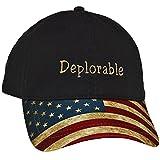Original Black Deplorable Hat for Republican Patriots-US Flag Bill Trump Hat