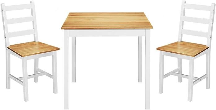 PanaCasa - Juego de mesa de comedor de madera maciza con 2 sillas de comedor contemporáneo: Amazon.es: Juguetes y juegos