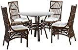 Panama Jack Sunrooms 6 PCPJS-2001-DIN Bora Bora Dining Set with Cushions, Sunbrella Canvas Coal For Sale