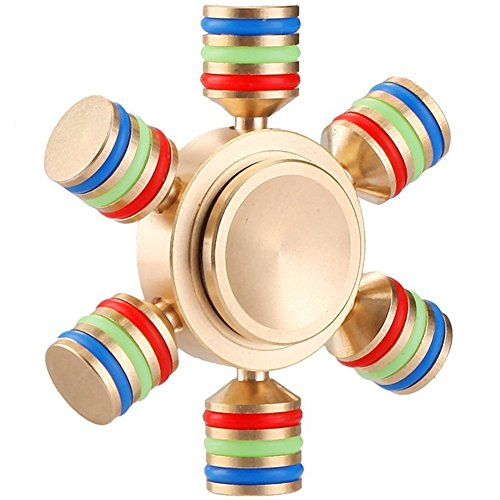 Fidget Spinner Rainbow Metal Toy Anxiety Relieve Stress High Speed Focus Toy No-Noise Detachable Hexagonal for Killing Time (hexagonal)