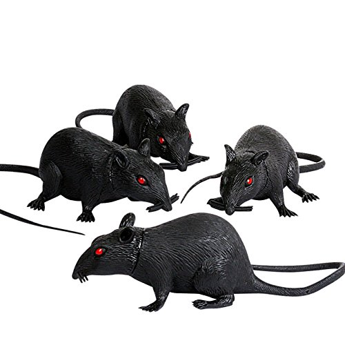 - Amscan Family Friendly Halloween Trick or Treat Realistic Squeak Rat Party Favour, Plastic, 7
